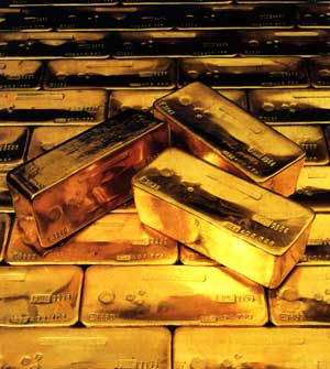 El valor del oro, lingotes de oro
