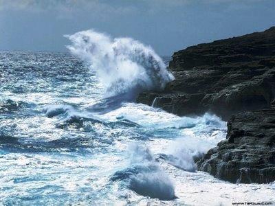 el mar produce un sonido que parece un rugido