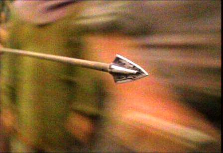 la fuerza que hace volar la flecha por el aire