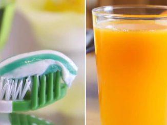 ¿Por qué el jugo de naranja tiene mal sabor después del cepillado de dientes?